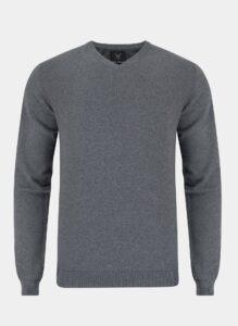 sweter z dekoltem w serek